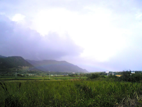 石垣島明石で見た虹