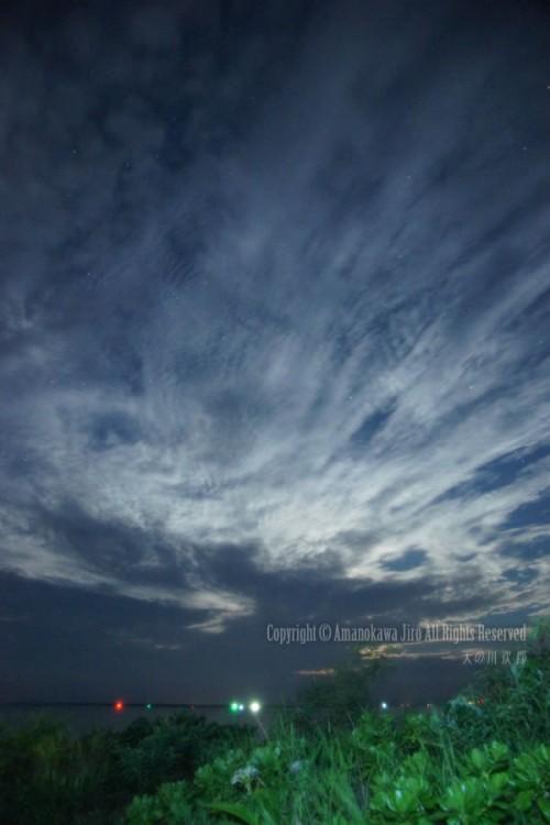 石垣島の夜の雲